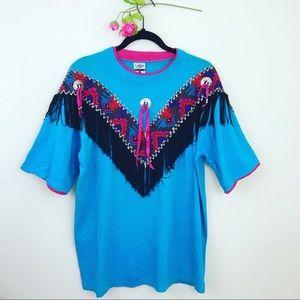 Vintage ⚓️ Aztec Fringe T-shirt